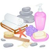 Accessoires pour le bain Image libre de droits