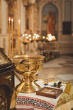 Accessoires pour le baptême Images libres de droits