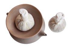 Accessoires pour le massage thaï Photo stock