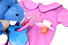 Accessoires pour le nouveau-né Images stock