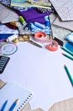 Accessoires pour le tailleur ou le concepteur Photos libres de droits