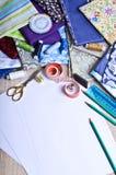 Accessoires pour le tailleur ou le concepteur Image libre de droits