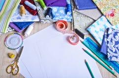 Accessoires pour le tailleur ou le concepteur Images stock
