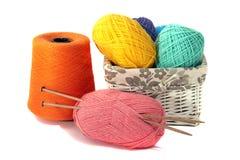 Accessoires pour le tricotage Photographie stock