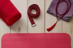 Accessoires pour le yoga Image libre de droits
