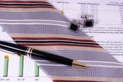 Accessoires professionnels financiers Photo stock