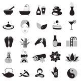 Accessoires réglés pour le massage et la station thermale Photo libre de droits