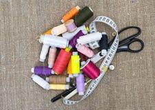 Accessoires toujours de couture de durée Photo stock