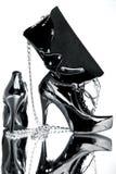 Accessori alla moda neri immagine stock