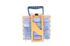Accessori in casella Fotografie Stock