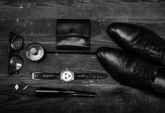 Accessori casuali del ` s degli uomini Fotografia Stock Libera da Diritti