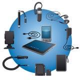 Accessori dei dispositivi Immagini Stock Libere da Diritti