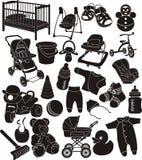 accessori del bambino Fotografie Stock Libere da Diritti