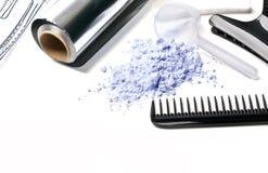 Accessori del barbiere fotografia stock