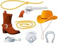 Accessori del cowboy Fotografia Stock