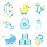 Accessori del neonato Fotografia Stock