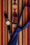 Accessori del ` s degli uomini: Farfalla del ` s degli uomini, scarpe, orologi Immagine Stock Libera da Diritti