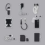 Accessori del telefono cellulare Immagine Stock