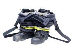 Accessori del vigile del fuoco Immagine Stock