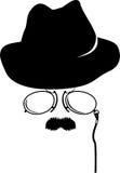 Accessori dell'agente investigativo del fumetto retro Fotografie Stock Libere da Diritti