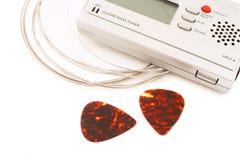 Accessori della chitarra Fotografie Stock