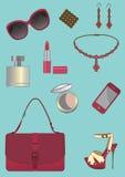 Accessori della donna impostati. Fotografia Stock