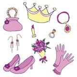 Accessori della principessa Fotografia Stock Libera da Diritti