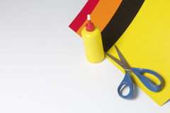 Accessori della scuola per creatività Immagini Stock