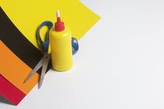 Accessori della scuola per creatività Fotografia Stock