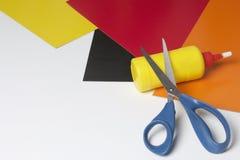 Accessori della scuola per creatività Immagine Stock