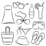 Accessori della spiaggia. Immagine Stock