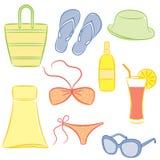 Accessori della spiaggia. Fotografie Stock Libere da Diritti