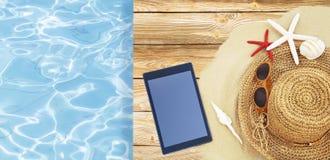 Accessori della spiaggia immagini stock libere da diritti