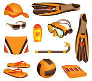Accessori della spiaggia per l'uomo Immagini Stock Libere da Diritti
