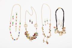 Accessori delle collane per i gioielli delle donne Fotografia Stock Libera da Diritti
