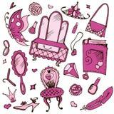 Accessori delle ragazze per le ragazze e le ragazze royalty illustrazione gratis