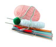 Accessori di lavoro a maglia Fotografie Stock Libere da Diritti