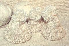 Accessori di lavoro a maglia Palle del filato Fotografie Stock Libere da Diritti