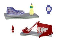 Accessori di modo per le donne illustrazione di stock
