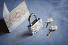Accessori di nozze fotografia stock libera da diritti