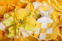 Accessori di nozze su carta Immagine Stock