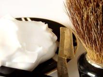 Accessori di rasatura del `s dell'uomo Fotografie Stock