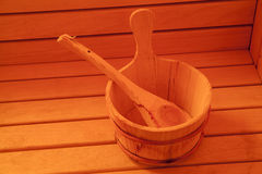 Accessori di sauna Fotografia Stock Libera da Diritti