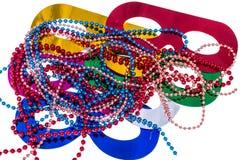 Accessori di travestimento per i partiti di Mardi Gras fotografia stock libera da diritti