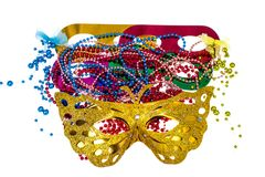 Accessori di travestimento per i partiti di Mardi Gras fotografie stock