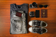 Accessori di viaggio Fotografie Stock