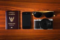Accessori di viaggio Fotografia Stock Libera da Diritti