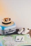 Accessori di viaggio per il viaggio di viaggio passaporti Immagine Stock