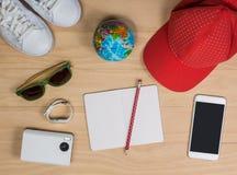 Accessori e preparazione di viaggio Fotografia Stock Libera da Diritti