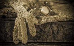 Accessori eleganti nei toni di seppia Fotografie Stock